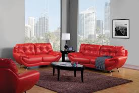 Red Sofas In Living Room by Marvelous Red Living Room Set With Elegant Awesome Red Leather