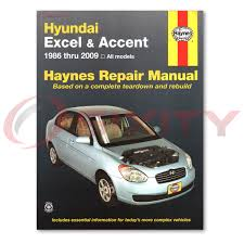 for hyundai accent haynes repair manual base se gls gsi shop