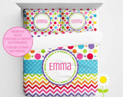 Kids Bedding Sets For Girls by Rainbow Bedding Etsy