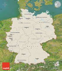 Hannover Germany Map by Shaded Relief Map Of Germany Satellite Outside