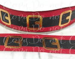 santa belt ribbon santa belt ribbon etsy