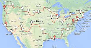 road trip map of usa road trip route usa all world maps
