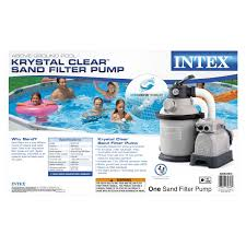 Pump It Up Invitation Card Amazon Com Intex Krystal Clear Sand Filter Pump For Above Ground