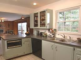 Photos Of Painted Kitchen Cabinets by How To Paint Old Kitchen Cabinets How Tos Diy