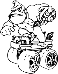 donkey kong free coloring pages on art coloring pages