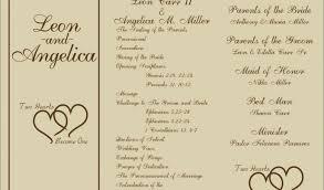 wedding programs trifold tri fold wedding invitations new free printable wedding programs