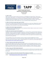faqs for tapp clayton county public schools
