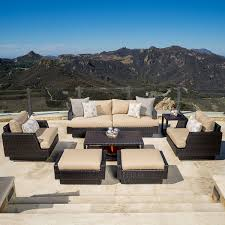 Outdoor Furniture Covers Reviews by Portofino Comfort 7pc Sofa Set With Furniture Covers Heather