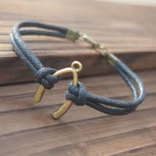 Handmade Mens Bracelets - wishbone bracelet handmade single bracelet quality black wax cord