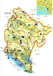 Map Of Albania Big Tourist Map Of Montenegro Montenegro Big Tourist Map