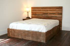 bedroom dark lacquered reclaimed wood king bed frame which