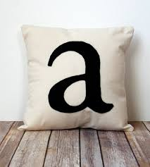 custom initial pillow cover home decor lighting carijoy custom initial pillow cover up the coziness factor of your abode by tenfold with this