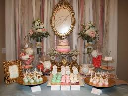 shabby chic vintage glam baby shower party ideas photo 1 of 16