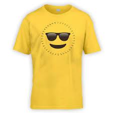 Smiley Meme - dot to dot cool emoji kids t shirt x10 colours gift present meme
