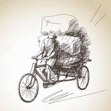 rickshaw delivery u2014 stock vector olgatropinina 41449883