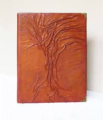 small leather photo album photo album leather anniversary gift for him tree of gift