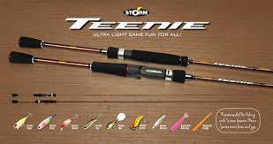 ultra light rod and reel storm gomoku teenie rod ultra light game fun for all fish on