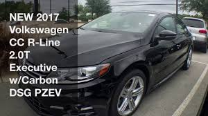 new 2017 volkswagen cc r line 2 0t executive w carbon dsg youtube