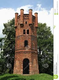 old castle lookout tower stock image image 36100461