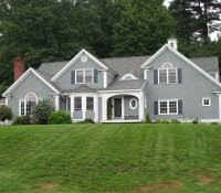 grey house white trim what color door exterior paint colour