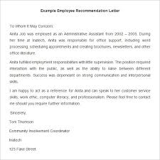 20 employee recommendation letter templates hr template free