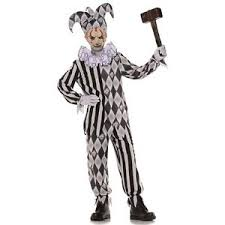 Scary Halloween Costumes Kids Evil Jester Costume Kids Scary Halloween Harlequin Fancy Dress Ebay