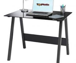 L Shaped Black Glass Desk Small Glass Computer Desk Tag Black Glass Desk Wood And Top