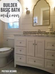 Basic Bathroom Designs Big Reveal Update A Builder Basic Bathroom Postbox Designs