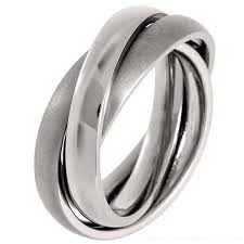 russian wedding band 3 band russian wedding ring made of titanium
