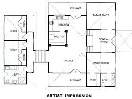 layout of house traditional japanese house layout floor plans apartments style