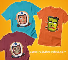 Halloween T Shirts by Vintage Halloween Masks On T Shirts The Art Of Robert Jimenez