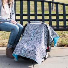 Free Carseat Canopy Pattern by Herringbone Car Seat Canopy With Peekaboo Opening Free Shipping