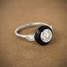 bullet wedding rings deco style onyx bullet ring bullet and ring