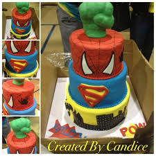 super heroes batman spiderman superman avengers vanilla cake with