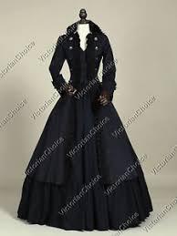 Victorian Halloween Costumes Women Black Victorian Military Coat Dress Steampunk Witch Women