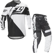 fly motocross gear fly racing 2016 f 16 black white motocross kit jersey pants mx off