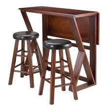 Drop Leaf Table With Chairs Winsome Mercer 3 Piece Double Drop Leaf Small Table Set With