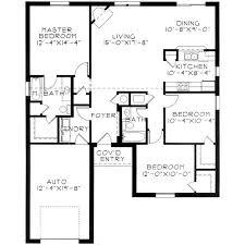 3 bedroom floor plans with garage 3 bedroom house floor plans home intercine