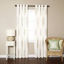 Embroidered Curtain Panels Best Home Fashion Inc Tree Embroidered Faux Linen Nature Floral