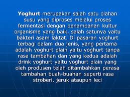 cara membuat yoghurt yang kental cara membuat yoghurt yang benar ppt download