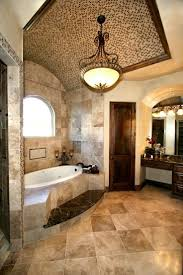 luxury bathroom in tuscan style with a bathtub and beige