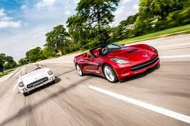 then vs now 2015 chevrolet corvette vs 1954 chevrolet corvette