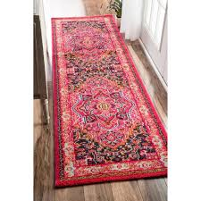 Pink Runner Rug The Curated Nomad Marcela Traditional Medallion Pink Runner Rug 2