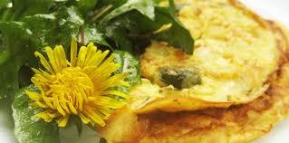 cuisiner le pissenlit omelette aux fleurs de pissenlit et sa salade recette sur cuisine