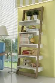 manhattan comfort white oak brilliant carpina ladder shelf
