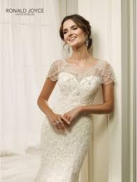 wedding dress ivory ronald joyce 69216 hadara fit and flare lace wedding dress