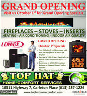 Home Comfort Services Top Hat Home Comfort Services In Smiths Falls On 613 257 1226
