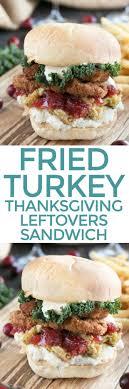 fried turkey thanksgiving leftover sandwich cake n knife