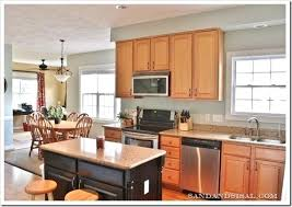 Colors For A Kitchen With Oak Cabinets Startling Gray Kitchen Oak Cabinets Grey Paint Colors Gray Paint