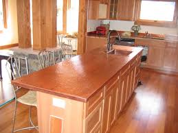 hammered copper kitchen island quicua custom copper kitchen counters